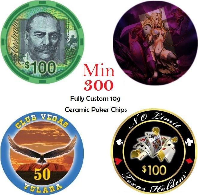 Custom Ceramic Poker Chips Tokens