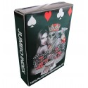 Black King Design 100% Plastic Poker Playing Cards - Jumbo Index