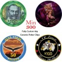 Custom Ceramic Poker Chips Tokens