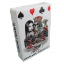 White King Design 100% Plastic Poker Playing Cards - Jumbo Index