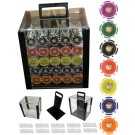 1000pce Poker Tournament Chip Set in Acrylic Case with 10 x Trays