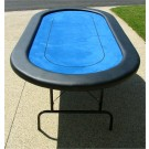 "Premium 84"" Oval Blue Poker Table w/ Betline"