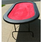 "Premium 84"" Oval Red Poker Table w/ Betline"