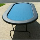 "Premium 84"" Oval Blue Suited Speed Cloth Poker Table"