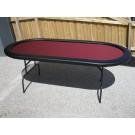 "Premium 84"" Oval Burgandy Suited Speed Cloth Poker Table"