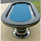 "No Limit 96"" Suited Speed Cloth Casino Poker Table w/ Racetrack & Stainless Steel Cups"