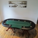 "The Elite 92"" Oval Casino Poker Table"