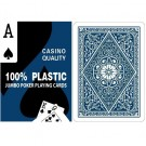 Blue 100% Plastic Poker Playing Cards - Jumbo Index