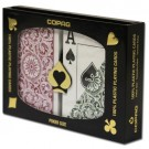 Copag 1546 Poker Size Green Burgundy Jumbo Index 2 Deck Plastic Playing Card Set