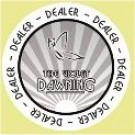 The Violet Dawning Dealer Button