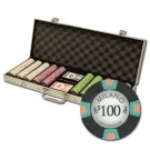 500pce Milano 10g Clay Poker Chip Set in Aluminium Case