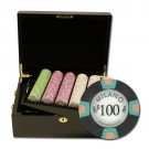500pce Milano 10g Clay Poker Chip Set in Mahogany case
