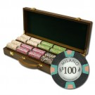 500pce Milano 10g Clay Poker Chip Set in Walnut case