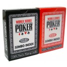 Modiano WSOP Plastic Playing Cards - Black and Red Twin Deck Set