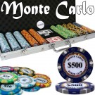 500pce Monte Carlo Poker Club Chip Set