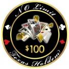 No Limit Texas Holdem $100