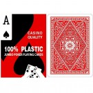 Red 100% Plastic Poker Playing Cards - Jumbo Index