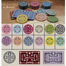 The Medieval 500pce Ceramic Poker Chip Set