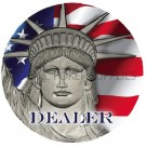 US Currency Dealer Button