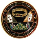 At The World Series Its All About The Bracelet Brass Poker Card Guard